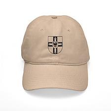 Crusaders Cross - Knights Templar B-W Baseball Cap