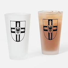 Crusaders Cross - Knights Templar B-W Drinking Gla