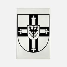 Crusaders Cross - Knights Templar B-W Rectangle Ma