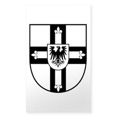 Crusaders Cross - Knights Templar B-W Sticker (Rec