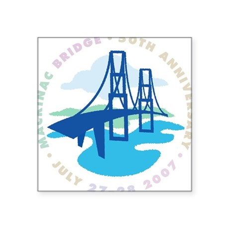 Mackinac Bridge Square Sticker