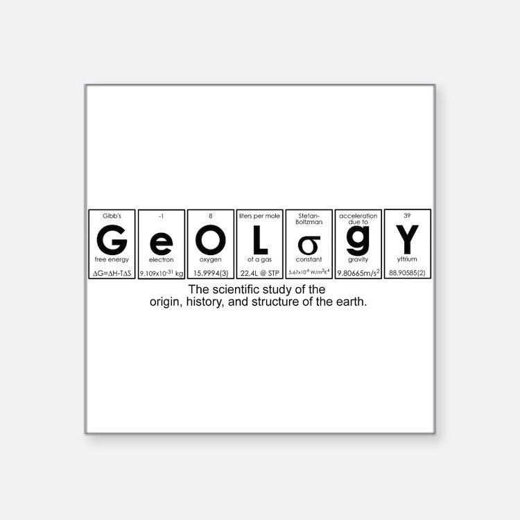 GEOLOGY Square Sticker