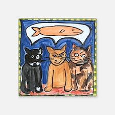Cat Dreams Square Sticker