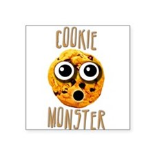 Cookie Monster Square Sticker