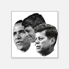 Obama - Kennedy (JFK, RFK) Square Sticker