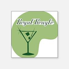Regal Beagle Square Sticker