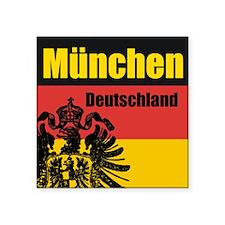 München Deutschland Square Sticker
