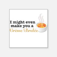 Creme Brulee Square Sticker