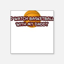 Chicago Basketball Daddy Square Sticker