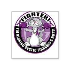Cystic-Fibrosis Cat Fighter Square Sticker