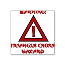 TRIANGLE CHOKE HAZARD Square Sticker