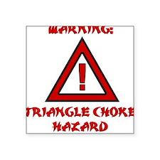 TRIANGLE CHOKE HAZARD Square Sticker