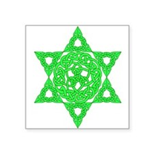 Celtic Star of David Square Sticker