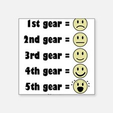 The Gears Baby Square Sticker