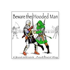 Hooded Man Square Sticker