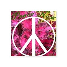Peace Now! Square Sticker