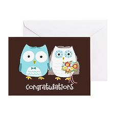 Owls Wedding Congratulations Greeting Card