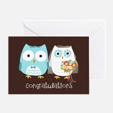 Owls Wedding Congratulations Greeting Card