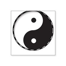 Ying Yang Square Sticker