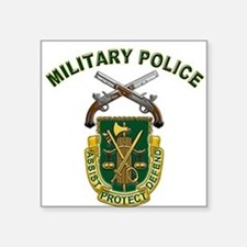 US Army Military Police Crest Square Sticker
