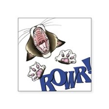 Rowr kitty Square Sticker