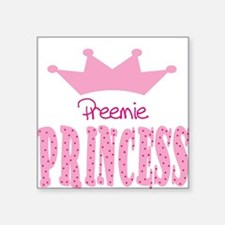 Preemie Princess Baby Square Sticker