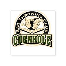 Cornhole Throwing Club Square Sticker