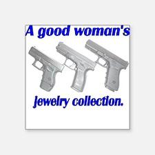 A Good Woman's jewelry collec Square Sticker