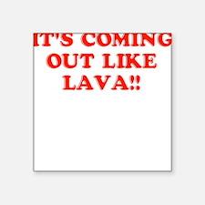 Lava Square Sticker