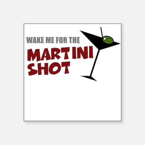 Women's Martini Shot Square Sticker