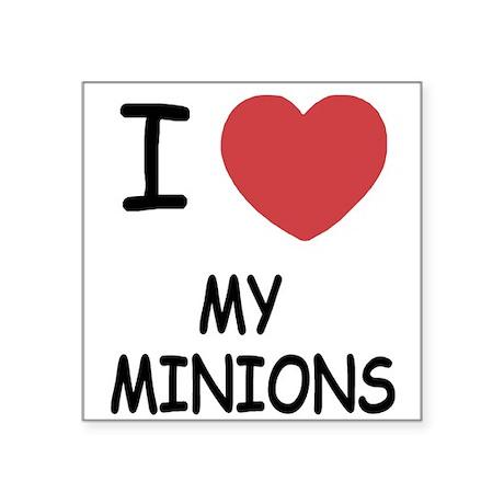 I heart my minions Square Sticker