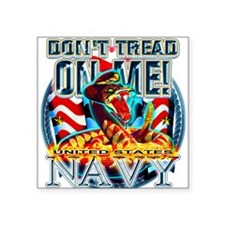 US Navy Dont Tread on Me Snak Square Sticker