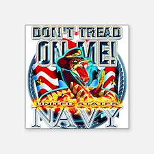 US Navy Dont Tread on Me Snak Square Sticker