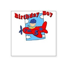 5th Birthday Airplane Square Sticker