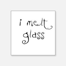 Square Sticker i melt glass