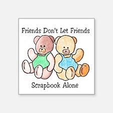 Scrapbook Friends Square Sticker