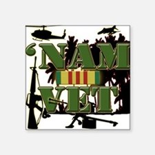 US Vietnam Veteran Square Sticker