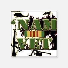 US Vietnam Veteran Square Sticker