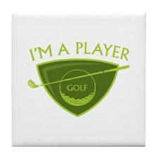 I'm A Player Tile Coaster