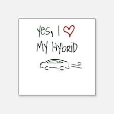 Hybrid Car Square Sticker