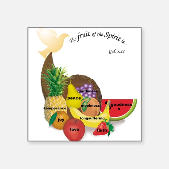 Fruit of the Spirit Square Sticker