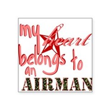 My Heart Belongs to an Airman Square Sticker