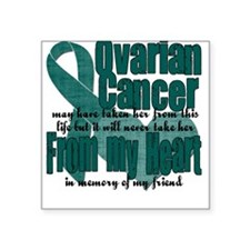 Ovarian Cancer Friend Square Sticker