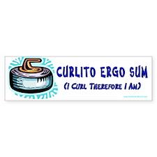 Curlito Ergo Sum Bumper Bumper Sticker