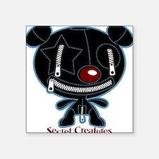 Teddy Gimp Bear Square Sticker