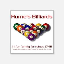 Hume's Billiards Square Sticker