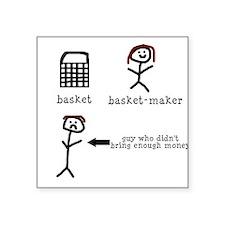 A Tisket A Tasket Square Sticker