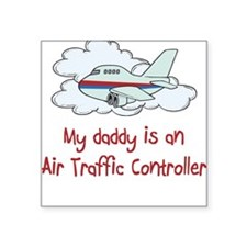 air Traffic Controller Square Sticker