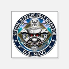 USN Special Warfare Boat Oper Square Sticker