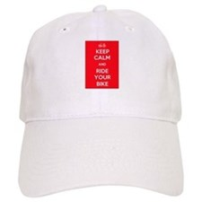 Keep Calm and Ride Your Bike Red Baseball Cap